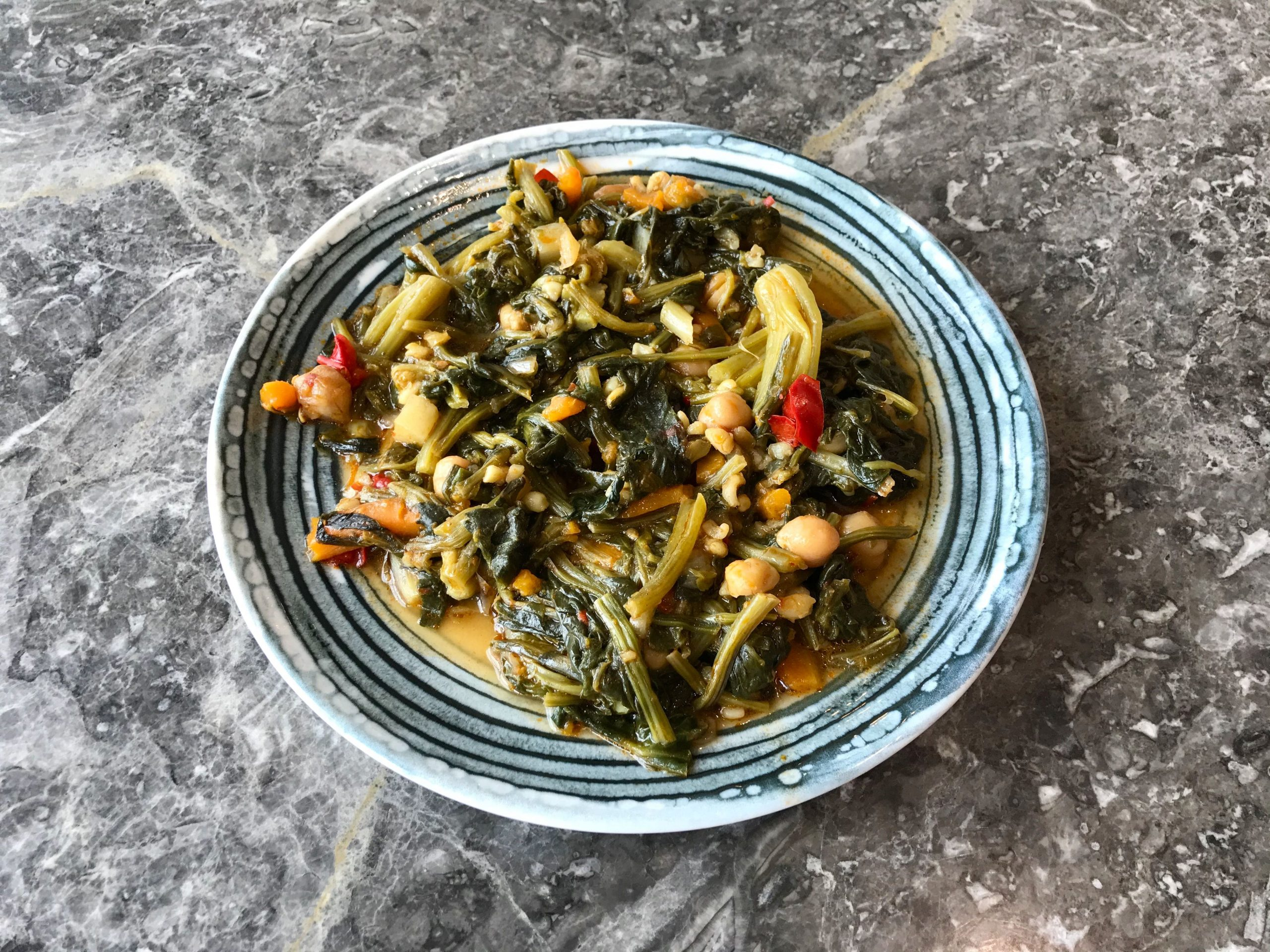 Chickpeas with Silverbeet and Lemon